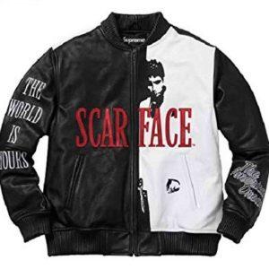 Tony Montana Scarface Bomber Leather Jacket