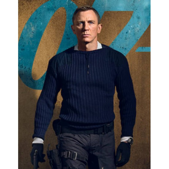 Daniel Craig No Time to Die James Bond Sweater